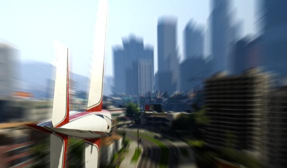 Полёты «на ноже» в GTA V