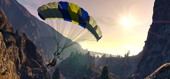 Прыжки с парашютом в Grand Theft Auto V