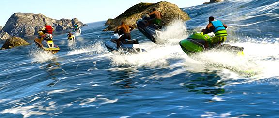 Гонки на гидроциклах в Grand Theft Auto V