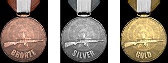 Медали за участие в испытаниях тира