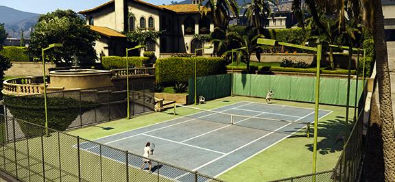 Теннис в Grand Theft Auto V