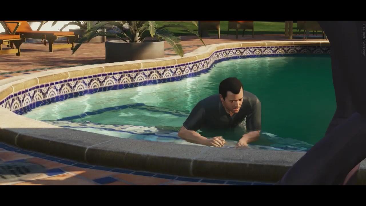 Сцена в бассейне с двумя парнями фото 127-746