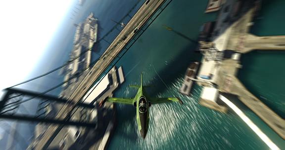 Полёты под мостами в GTA V