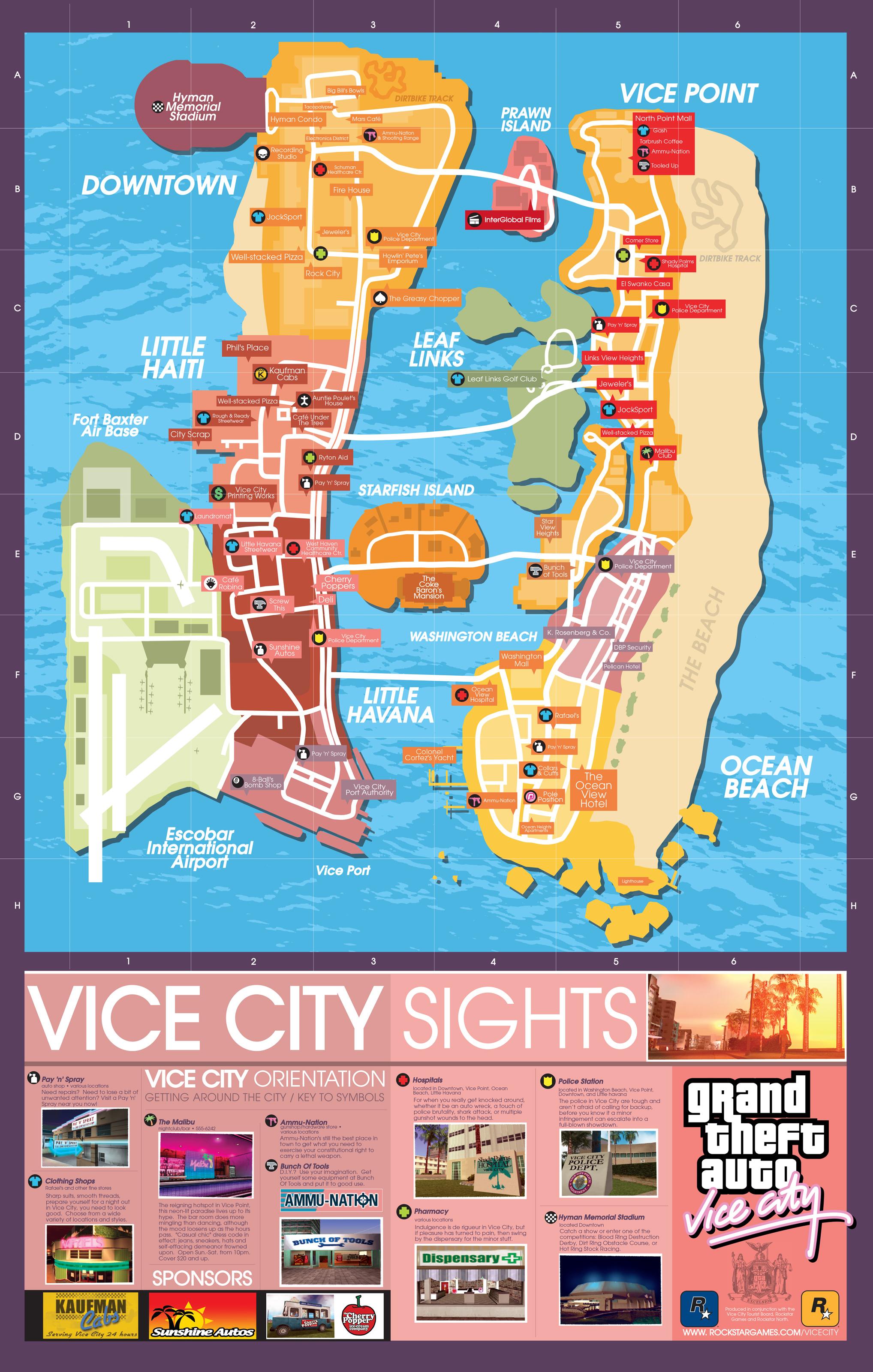 Карта GTA: Vice City