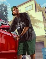 Арт GTA V: Ламар угоняет авто
